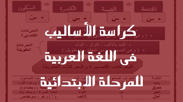 كراسة الأساليب فى اللغة العربية للمرحلة الابتدائية