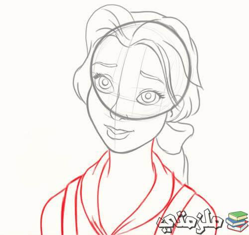 طريقة رسم الأميرة بيلا