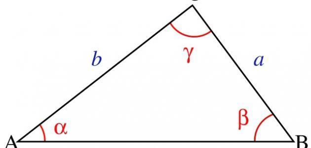 مساحة المثلث ومحيطه وحجمه