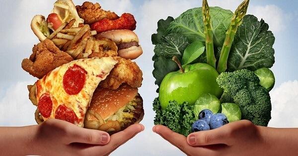 بحث عن الغذاء الصحي والغير صحي ملزمتي
