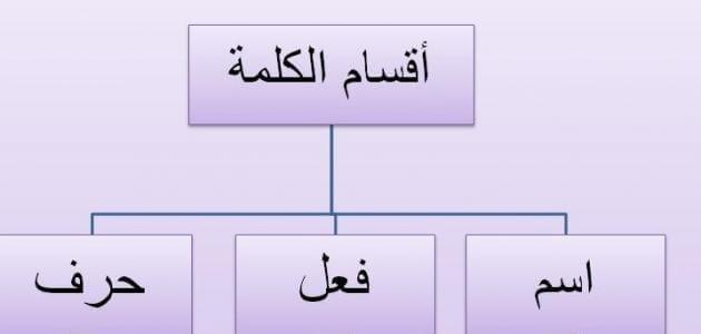 أقسام الكلام في اللغة العربية