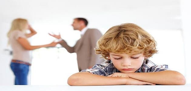أثار التفكك الأسرة على الأطفال