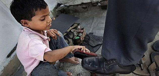 عمالة الأطفال في سن مبكرة