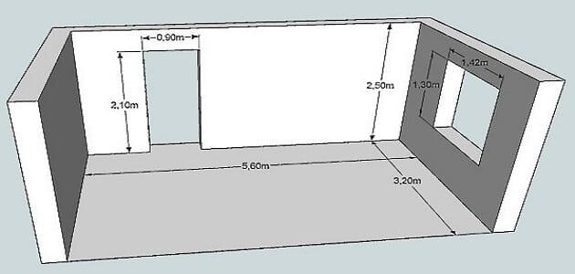 كيف احسب مساحة الغرفة بدون متر