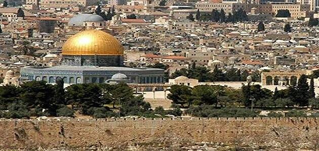 موضوع تعبير عن القدس العربية بالعناصر