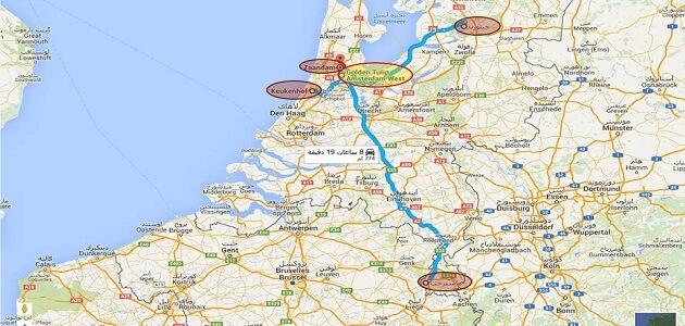 أين تقع أمستردام على الخريطة