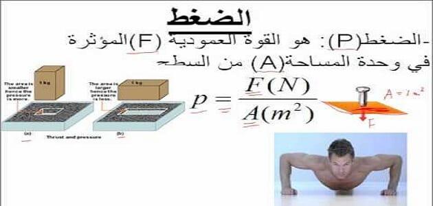قوانين الضغط في الفيزياء