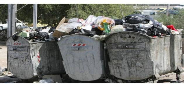 ما هي أسباب زيادة كمية النفايات