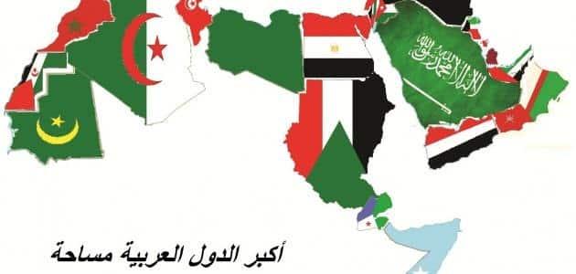 موضوع تعبير عن ترتيب الدول العربية من حيث المساحة
