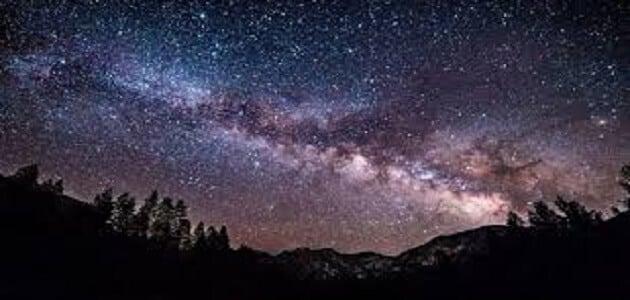 موضوع قصير عن مجرة درب التبانة