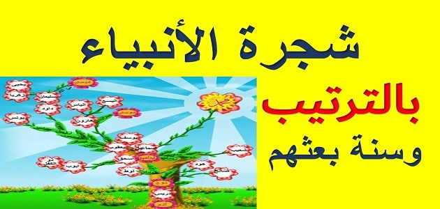 شجرة الانبياء من ادم الى محمد