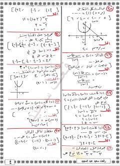مراجعة الجبر للصف الثاني الثانوي الترم الاول 2