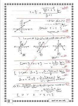 مراجعة ليلة الامتحان في التفاضل وحساب المثلثات ثاني ثانوي ترم أول 3