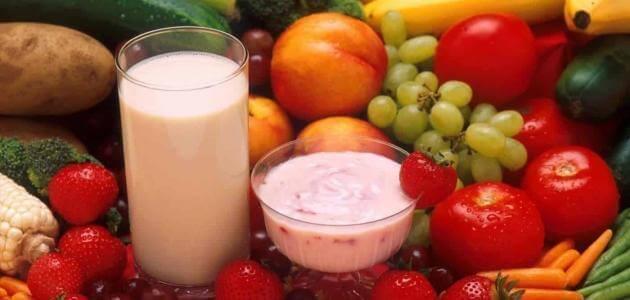 موضوع عن الطعام الصحي والغير صحي