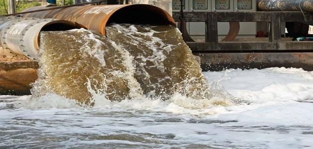 بحث عن تلوث المياه مع المراجع