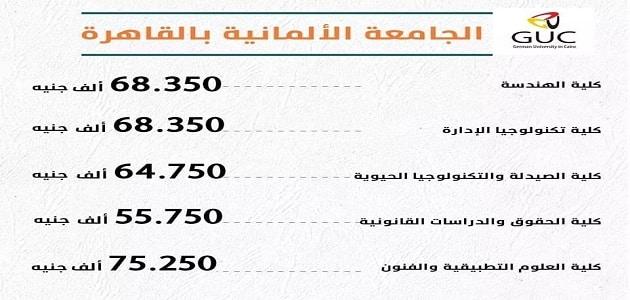 ما هي مصاريف الجامعة الألمانية بالقاهرة؟