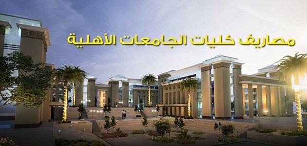 مصاريف الجامعات الاهلية في مصر