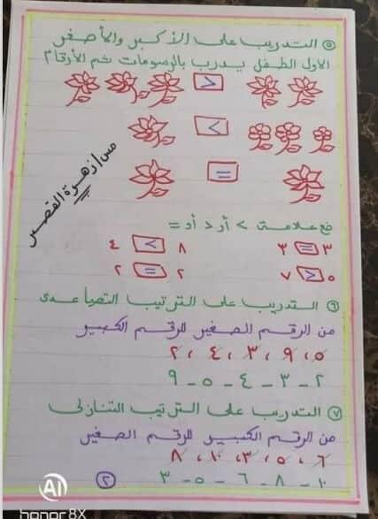 كراسة تأسيس رياضيات رياض أطفال للمراحل الأولى